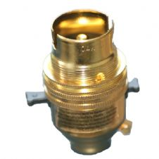 Brass Switched Lampholder Bayonet Cap BC Lampholder